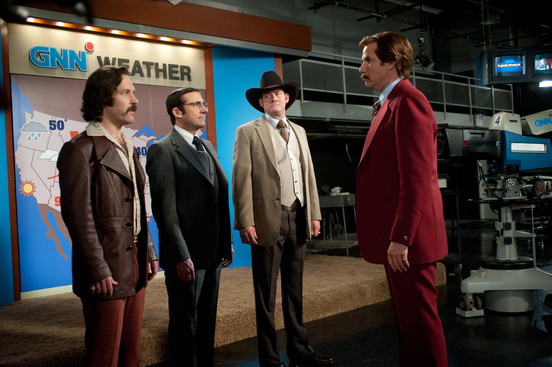 Anchorman 2 The Legend Continues - Will Ferrell - Steve Carell - Paul Rudd - David Koechner