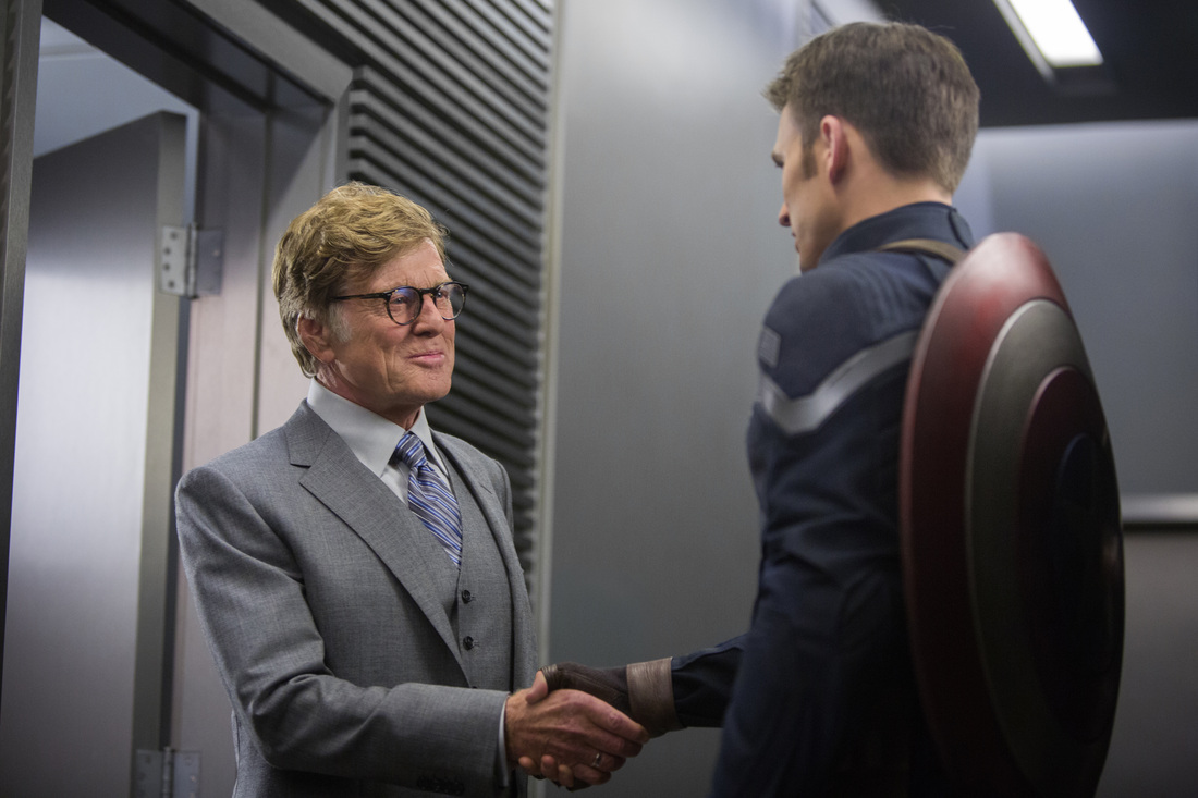 Captain America The Winter Soldier - Robert Redford - Chris Evans