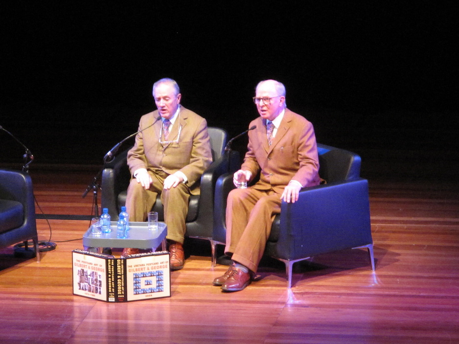 Gilbert and George - Singing Sculpture